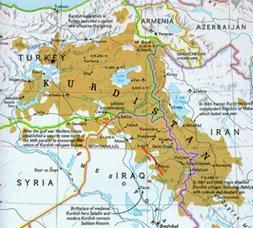 Kurdistan haritası