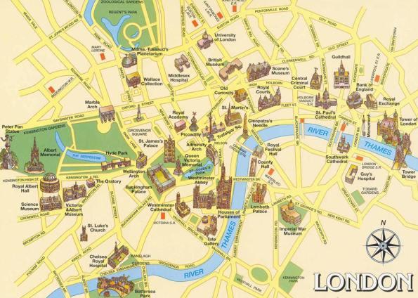 Londra haritası.