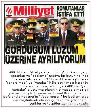 Türk ordusunda istifalar...