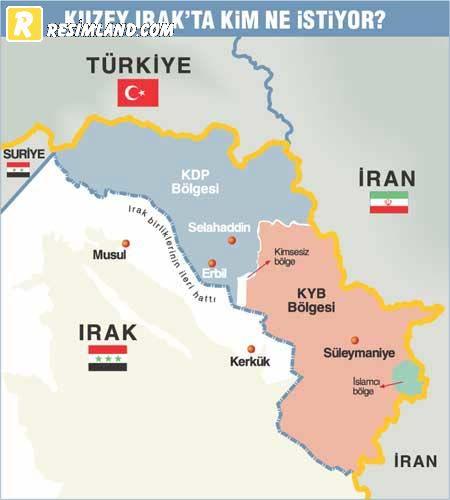 Kuzey irak haritası