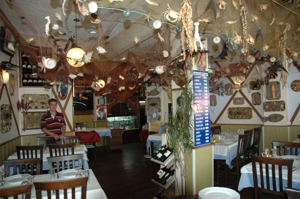 Mayna Balık Lokantası dekorasyonu...
